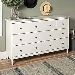 Walker Edison WE Furniture AZR6DDDRWH Dresser, 57, White