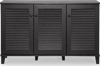 Wholesale Interiors Baxton Studio Warren Shoe-Storage Cabinet, Espresso