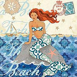 Portfolio Canvas Decor Mermaid Rock by Jennifer Brinley Wrapped Canvas Wall Art, 20x20