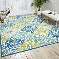 Nourison Wav01/Sun & Shade (SND23) Marine Rectangle Area Rug, 7-Feet 9-Inches by 10-Feet 10-Inches (79 x 1010)
