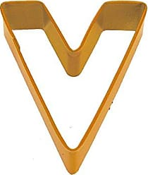 CybrTrayd R&M Letter V Cookie Cutter Orange With Brightly Colored, Durable, Baked-on Polyresin Finish