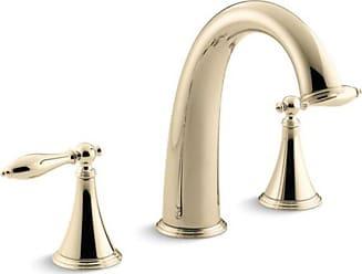 Kohler Finial Deck-Mount Lever Handle Bath Faucet Trim Set - KT314-4M-CP