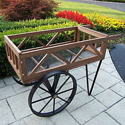 Oakland Living Flower Garden Wagon - 92008-BK