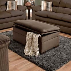 United Furniture Simmons Lakewood Upholstered Storage Ottoman - Cappuccino - 3685-095