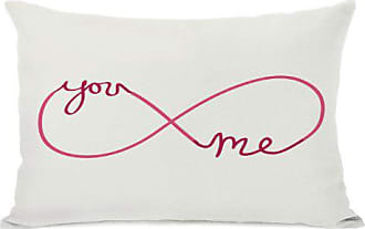 One Bella Casa Infinite You Me Throw Pillow by OBC, 14x 20, Ivory/Red/Pink