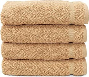 Linum Home Textiles Herringbone 100% Turkish Cotton Hand Towels (Set of 4)