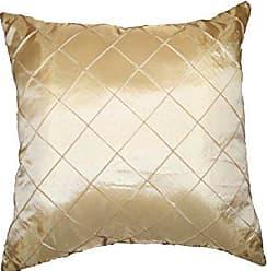 Violet Linen Silky Checks Decorative Pillow, 17 x 17, Beige