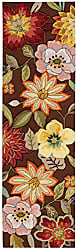 Nourison Fantasy (FA18) Chocolate Runner Area Rug, 2-Feet 3-Inches by 8-Feet (23 x 8)