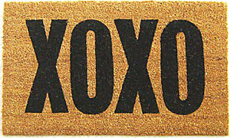 Geo Crafts Vinyl Back XOXO Doormat