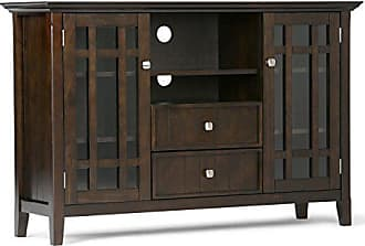 Simpli Home Simpli Home 3AXCBED-01 Bedford Solid Wood 53 inch wide Rustic TV media Stand in Tobacco Brown For TVs up to 55 inches