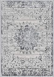 Unique Loom Aberdeen Collection Textured Traditional Vintage Tone-on-Tone Gray Area Rug (2 x 3)