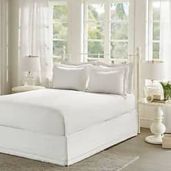 Jla Home White Ruffled Bed Skirt and Shams Set (King) JLA Home