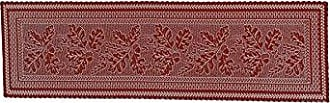 Heritage Lace Dark Paprika Oak Leaf Table Runner