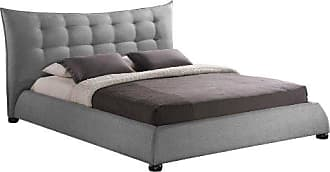 Wholesale Interiors Baxton Studio BBT6323-Grey-King Marguerite Linen Modern Platform Bed, King, Grey
