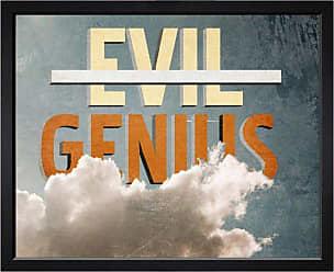 Hatcher & Ethan I Am A Genius! Framed Wall Art - HE15781_20X17_GLOS_BELV_HE