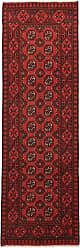 Nain Trading Handknotted Afghan Akhche Rug 711x27 Runner Dark Brown/Rust (Wool, Afghanistan)