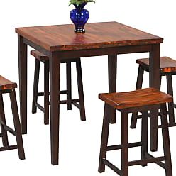 Winners Only Fifth Avenue 5 Piece Square Counter Height Dining Table with 4 Stools - DFA53636
