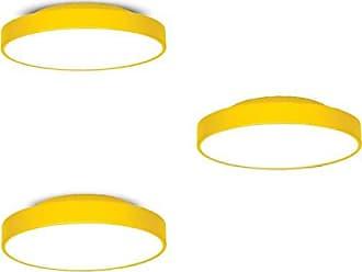 JD Molina Conjunto 3 Plafons MadeiraMadeira 25cm, 36cm e 50cm 380394 Amarelo