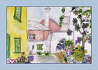 Betsy Drake PM108 Yellow House Place Mat, Set of 4