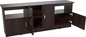 Inval America Inval MTV-6719 Contemporary Flat-Screen TV Stand, 60-Inch, Espresso-Wengue
