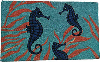 Geo Crafts G499 PVC Bleach Sea Horse Entry Way Doormat