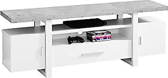 Monarch Specialties I I 2725 Tv Stand, 60 L, White