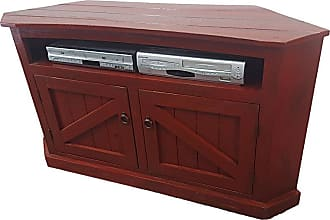American Heartland 57 in. Rustic Curve TV Stand - Assorted Finishes - 30744RAM