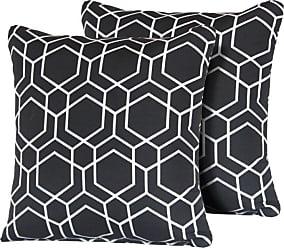 TK Classics Black Hexagon 18 x 18 in. Outdoor Throw Pillow - Set of 2 - PILLOW-HEXAGON-S-2X