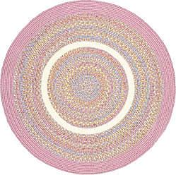 Rhody Rug Kidding Pink Banded 6 Round