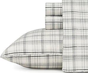 Revman International Eddie Bauer Beacon Hill Flannel Sheet Set, Full, Gray