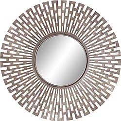 Decor Therapy Patton Wall Decor Champagne Metal Geometric Design Mirror Gold