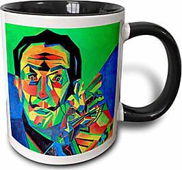 3D Rose 18275_4 Salvador Dali Abstract-Two Tone Black Mug 11 oz Multicolored