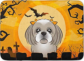 Carolines Treasures Halloween Scary Shih Tzu Black Silver Floor Mat 19 x 27 Multicolor