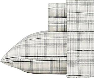 Revman International Eddie Bauer Beacon Hill Flannel Sheet Set, Queen, Gray