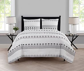 VCNY Azteca Printed Duvet Cover Set by VCNY Home, Size: Twin - AZ3-2DV-TWXT-IN-WH