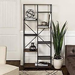 Walker Edison WE Furniture AZS68STRDW Bookshelf, 68, Dark Walnut