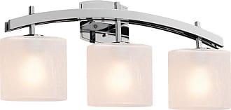 Justice Design Fusion Archway Frosted 3 Light Bathroom Vanity Light - FSN-8593-30-FRCR-CROM