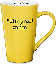 Pavilion Gift Company 14139 Volleyball Mom Stoneware Latte Mug, 18 oz, Multicolored