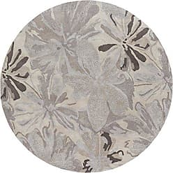 Surya ATH-5135 Hand Tufted Floral and Paisley Accent Rug, 6-Feet Round