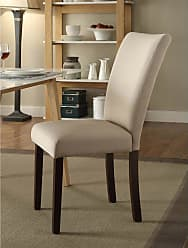4D Concepts Stabilyne Fabric Parson Chair - Set of 2 Midnight Gray - 175737