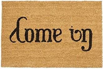 rouge Relaxdays Paillasson fibres de coco tapis de sol 60x40 dessous caoutchouc antid/érapant PVC ETOILES porte entr/ée nature tapis entr/ée terrasse garage jardin