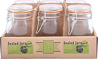 6.3 Esschert Design C2057 6 Piece Checkered Jar Cover Red//White