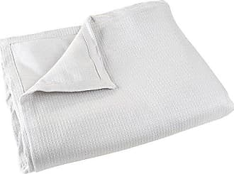 Trademark Global Cotton Blanket, Soft Breathable 100 Percent Cotton Full/Queen Blanket for Comfort and Warmth By Lavish Home (Full / Queen Size) (Platinum)