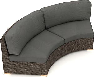 Harmonia Living Arden Wicker Outdoor Curved Loveseat Spectrum Peacock - HL-ARD-CH-CLS-PC