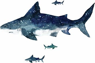 RoomMates Shark Peel and Stick Giant Wall Decals - RMK4014GM