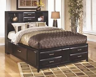 Ashley Furniture Kira King Storage Bed Almost Black