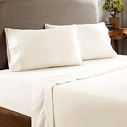 PCT Pacific Coast Deep Pocket T400 Cotton-Rich Sheet Set - Ivory - Size: Queen PCT