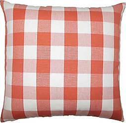 The Pillow Collection Nelson Plaid Bedding Sham Papaya Standard/20 x 26
