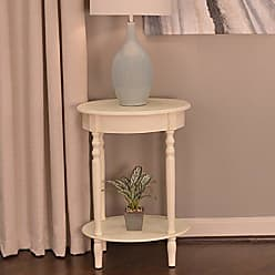Decor Therapy FR1473 Simplify Oval Accent Table, Antique White