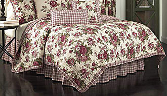 Ellery Homestyles Waverly 14770BEDDF/QTSN Norfolk 90-Inch by 88-Inch Reversible 4 Piece Full/Queen Quilt Collection, Tea Stain